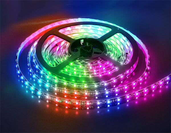 Пример полноцветной RGB ленты