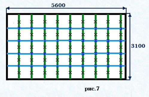 Пример схемы обрешетки.