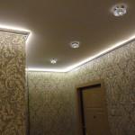 пример светодиодной подсветки потолка