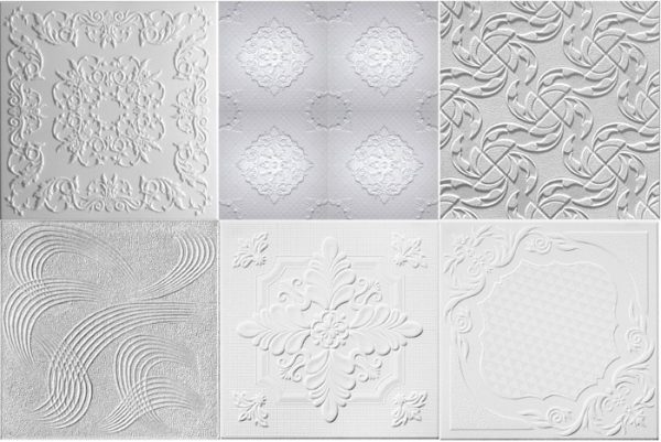 Примеры узоров потолочной плитки