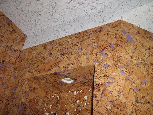 Пробковое покрытие для потолка.