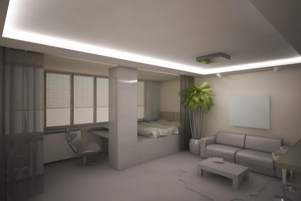 Проект помещения с оригинальным световым оформлением