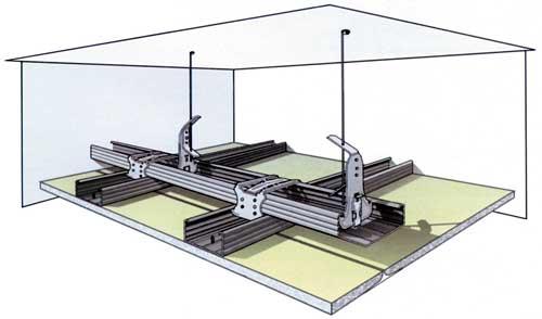 Схема монтажа каркаса на спицах
