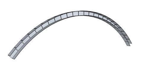 Профиль подрезается через 5 см и изгибается до нужной линии