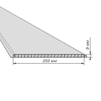 Стандартная ширина и толщина полимерной потолочной панели