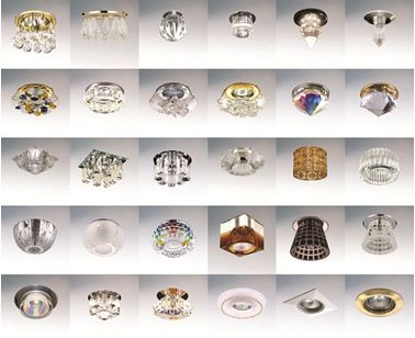Различные виды светильников для натяжных потолков