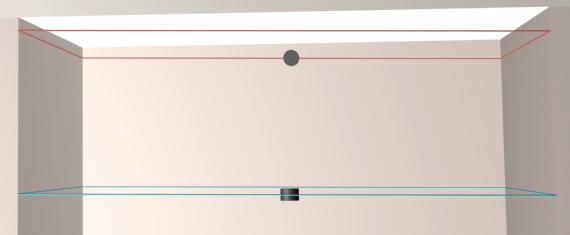 Разметка под каждый уровень двухуровневого гипсокартонного потолка