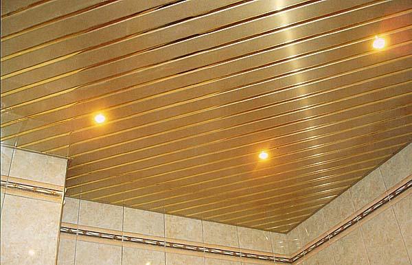 Диагональная установка реечного потолка