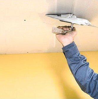 Проведение ремонта потолка из гипсокартона