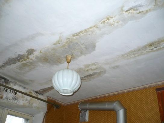 Косметический ремонт потолка после протечки