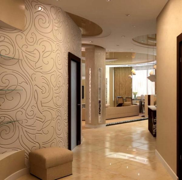 Резкого перепада яркости освещения между прихожей и жилыми комнатами быть не должно.
