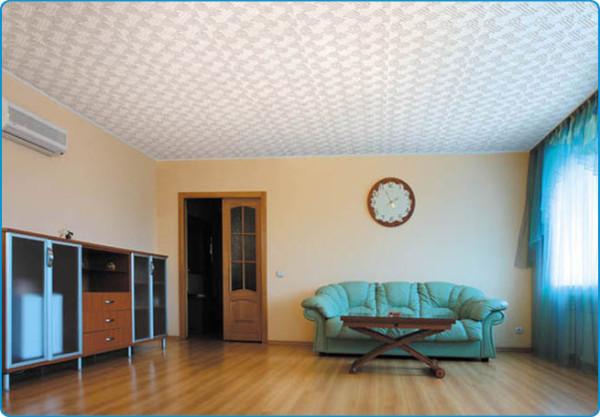 Результат небольших трудов – ровненький, монолитный потолок