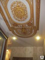 <li>Оформление потолка в стиле Востока – изящное и стильное решение в дизайне гостиных или библиотек;</li> </ul> <p>[caption id=