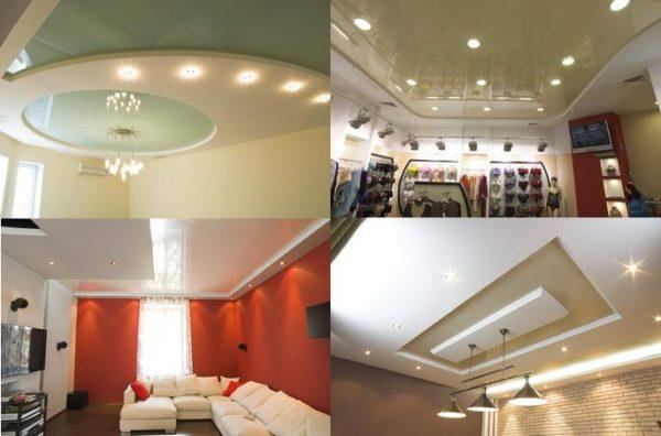 С помощью точечных светильников можно эффективно и экономично осветить помещение