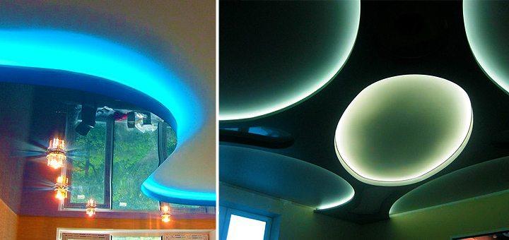Скрытая подсветка комплектуется светодиодными лентами, производящимися под собственным брендом фирмы.