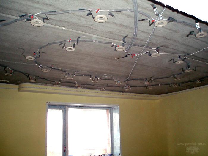 Фото как сделать натяжной потолок своими руками