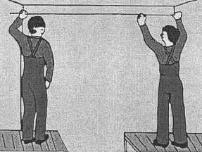 Схема нанесения разметки при помощи малярного шнура