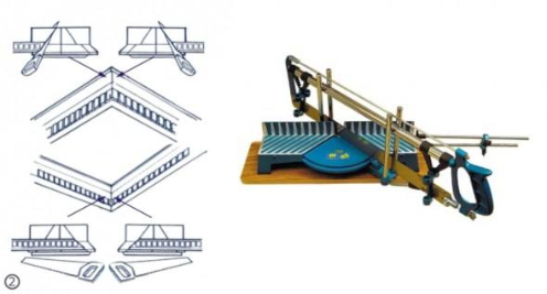 Схема обрезки плинтусов в стусле