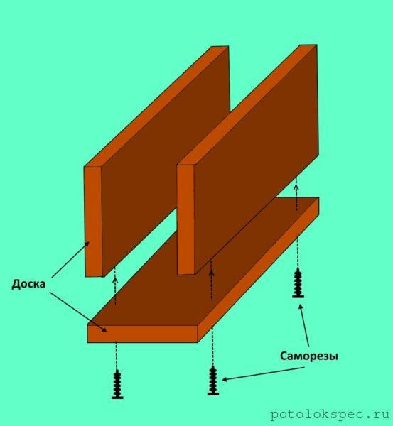 Схема соединения фрагментов самодельного стусла