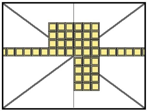 Схема укладки плит, начиная от люстры