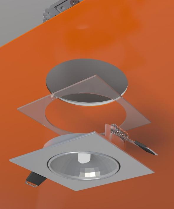Схема установки встроенного света