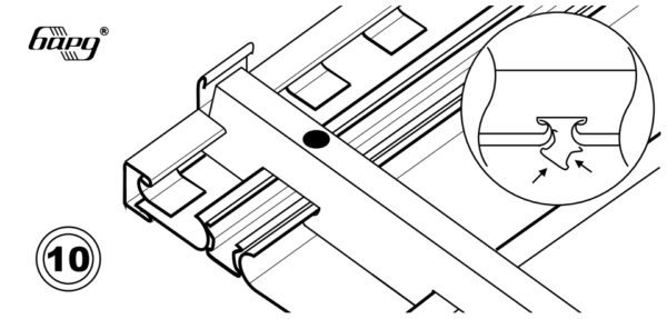 Схема вставки заглушки