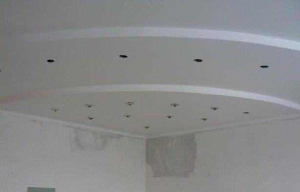 Финишная шпатлевка многоуровневого потолка
