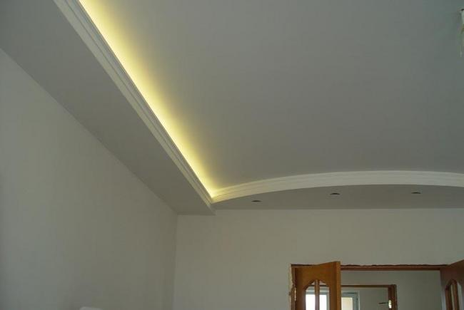 Гипсокартон на потолке