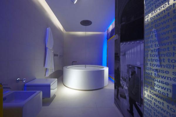 Синтез потолка из гипсокартона и осветительных элементов