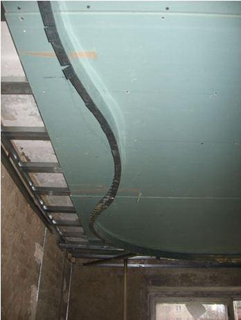 Создание каркаса многоуровневого потолка из гипсокартона