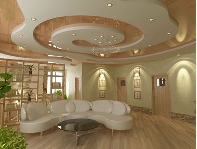 Спиралевидная форма потолка