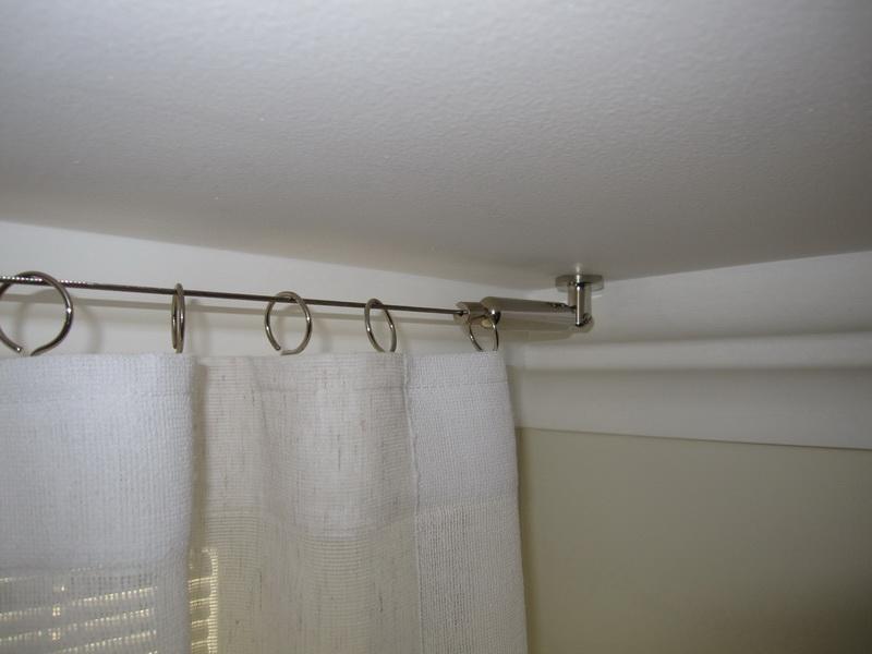 Как установить струнный карниз для штор своими руками