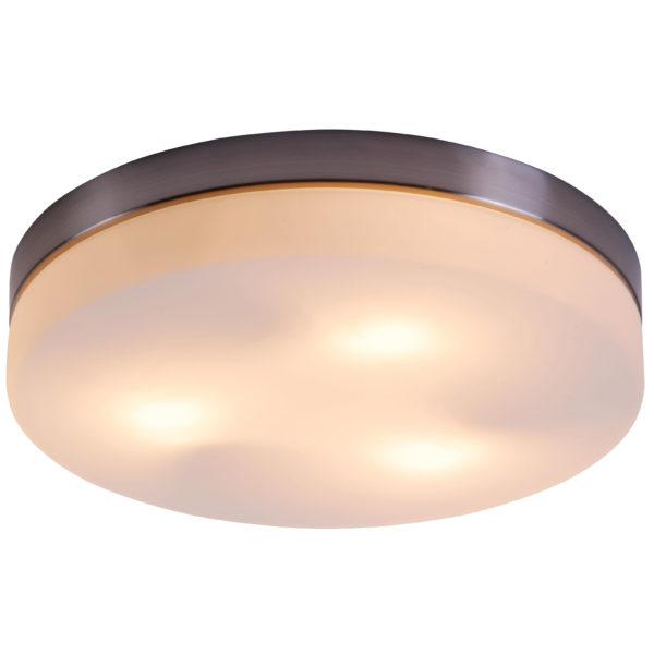 Светильник потолочный накладной, в котором можно использовать как лампы накаливания, так и люминесцентные приборы