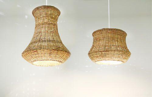 Плетеные светильники