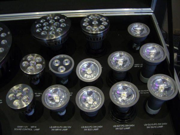 Светильники, диоды которых расположены внутри корпуса.