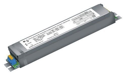 Пускорегулирующий аппарат (ЭПРА) – обязательное при использовании люминесцентных ламп устройство, которое ограничивает электрический ток и гарантирует надежное зажигание.