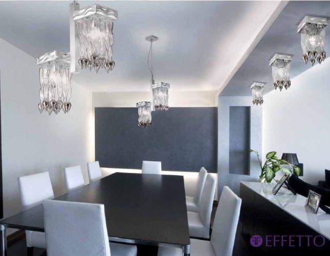 Подвесной светильник создает желаемое световое настроение в каждой отдельной комнате своим ярким, теплым, приглушенным или холодным светом.