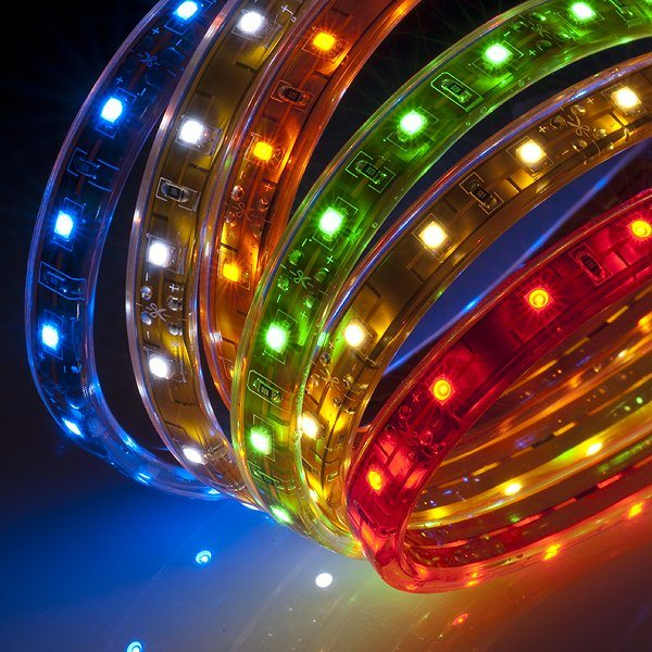 Разнообразие цветов светодиодной ленты.