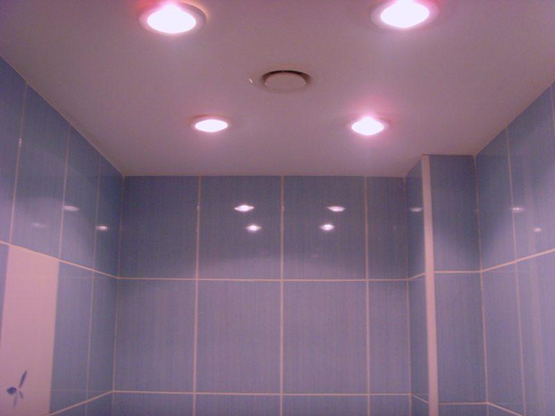 Светильники в ванную комнату потолочные