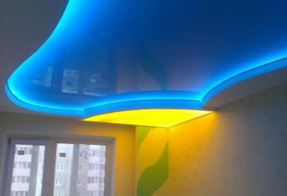 фото светящиеся потолки