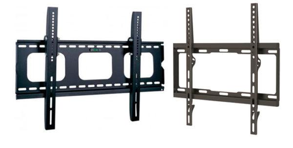Такой вариант позволяет крепить телевизоры разных размеров