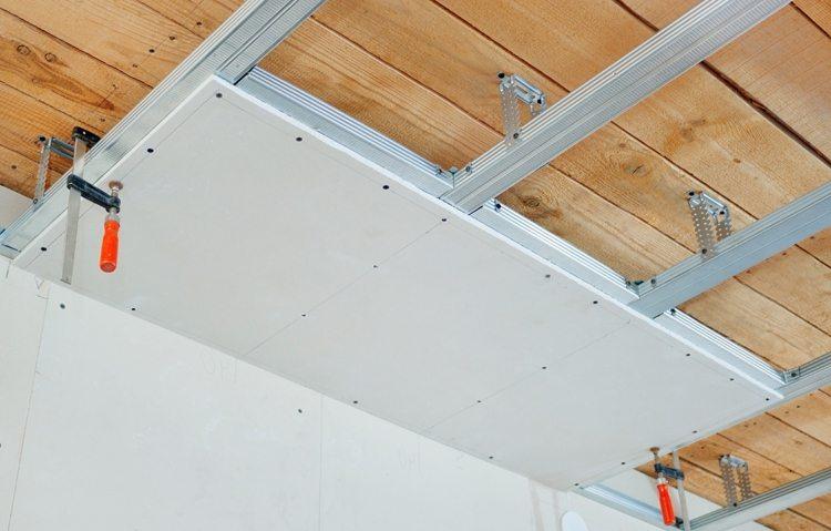 Изготовление гипсокартонного потолка