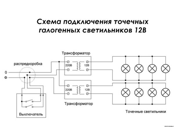 Типовая схема разводки на две ветки
