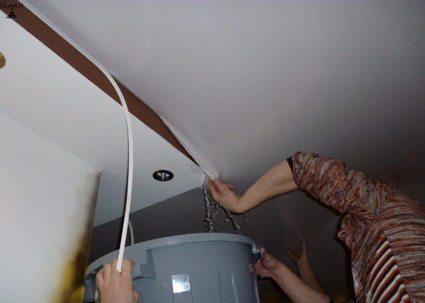 Тканевые потолки не защитят помещение от затопления