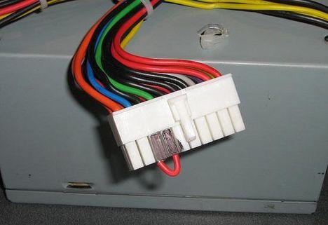 Для запуска нужно замкнуть черный и зеленый провода.