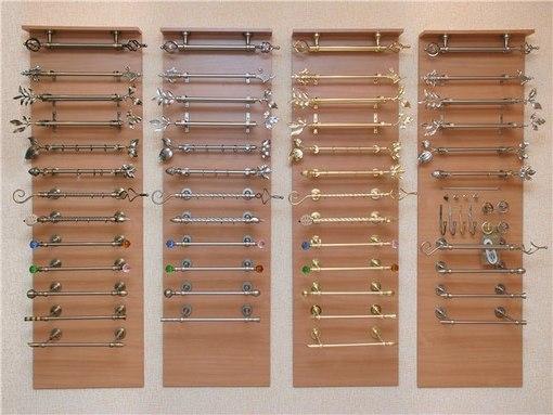 Только один из видов металлических карнизов – штанговый – представлен в огромном ассортименте