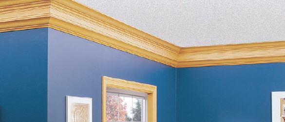 Цветной потолочный плинтус отлично вписывается в интерьер помещения