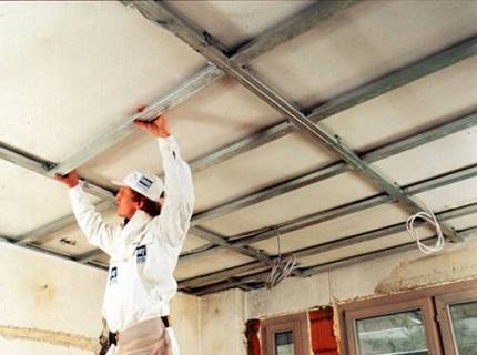 Дизайн потолок из пластиковых панелей