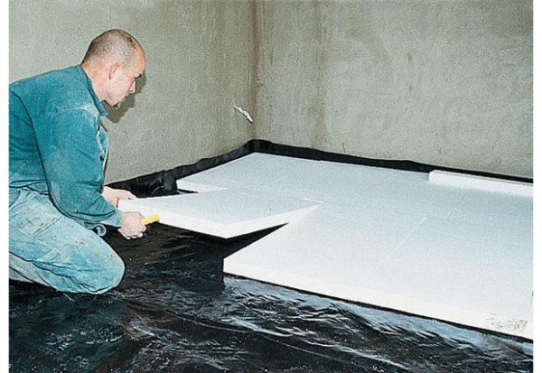 Утепление бетонного перекрытия пенополистиролом
