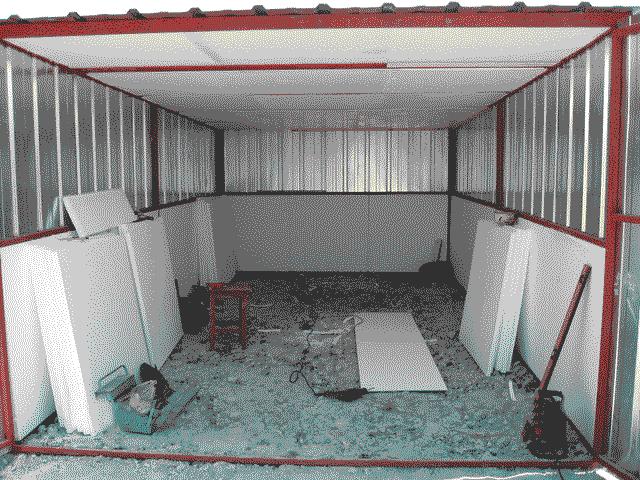Утепление металлического гаража пенопластом